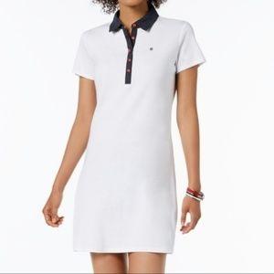 Tommy Hilfiger Polka Dot Collar Shirt Dress-NWT